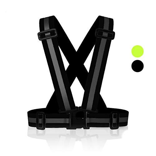 MyToolz hochwertige Sicherheitsweste für Damen und Herren - Praktische größenverstellbare Reflektorweste für das Fahrrad, Auto und Motorrad - Warnweste zum Laufen und Joggen (Schwarz)