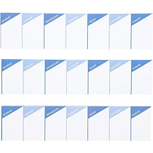 Wochenplaner Sticky Note Pad – 3 Pack 60-sheet Weekly Kalender selbst Stick Note, Terminplan und Terminplaner, tägliche Erinnerung für Schreibtisch, Arbeit, Lehrer, Schule Organisation, Essen Planung