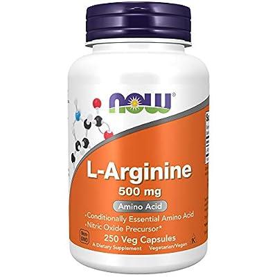 Now Foods Supplements, L-Arginine 500 mg, Nitric Oxide Precursor, Amino Acid, 250 Count, 0.0176 Ounce
