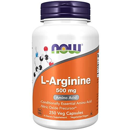 Now Foods L-Arginine 500mg Standard, 250 Kapseln