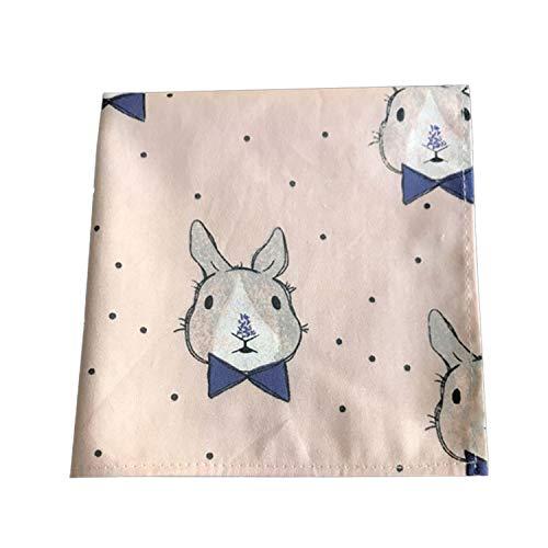 SQINAA Pañuelo Pure Pure Cotton Dibujos Animados Animal Lindo Handkerchief S Plaza Hankies Higroscópico Transpirable Regalo Suave 29X29cm,Rabbit Head Pink