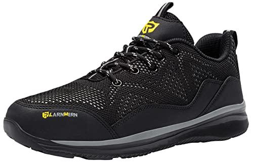 Zapatillas de Seguridad Hombre Mujer Zapatos de Seguridad con Puntera de Acero Ligeras Transpirable Zapatos de Trabajo Calzado Seguridad Anti-punción Talla 36-47EU