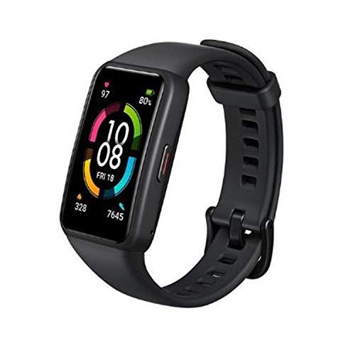 Smartband Honor Band 6 Pulseira inteligente, Tela AMOLED sensível ao toque colorida, SpO2, 5ATM à prova d'água (Preto)