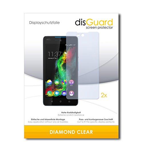 disGuard 2 x Bildschirmschutzfolie Wiko Rainbow Lite Schutzfolie Folie DiamondClear unsichtbar