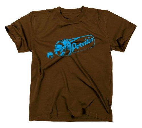#1 Crystal Meth Pervitin T-Shirt Cook Breaking Bad, Heisenberg, XXL, braun
