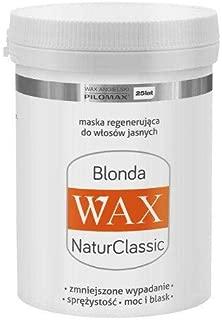 WAX NaturClassic BLONDA para cabello rubio - extractos de henna y manzanilla - 240 gramos