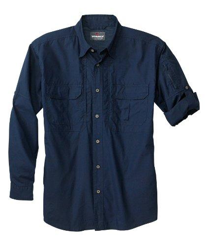 Woolrich Herren Elite Lightweight Operator Tactical Long Sleeve Shirt XXL Navy