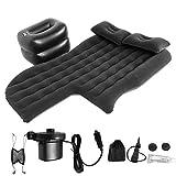 Travel Air Bed Colchoneta Inflable Duradera Suave y cómodo Cojín de Descanso para Dormir Colchón de Aire para Acampar, Viajes Largos, Senderismo para Modelos 95% SUV, sedán y MPV(Black)
