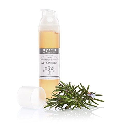 myrto – Bio Wirkstoff Anti-Schuppen-Shampoo | gegen Schuppen und gereizte Kopfhaut - ohne Alkohol - mit Wirkstoffkomplex - vegan - 100ml