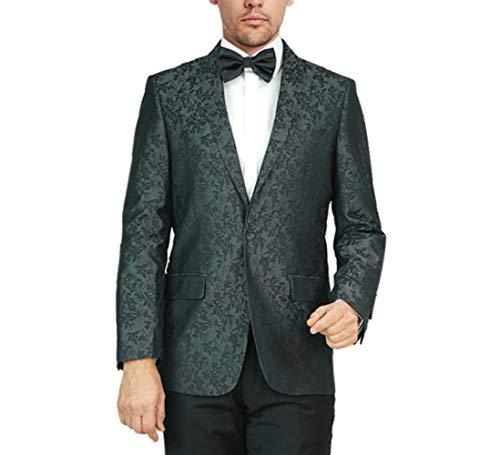 아담 베이커 남자 정규 피트 디너 재킷 재커드 플로랄 디자인 숄 칼라 웨딩 턱시도 블레이저