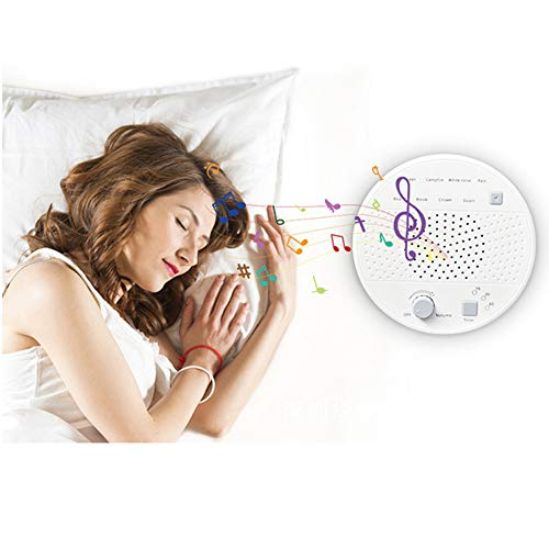 Slaap-Therapie-apparaat met hoofdtelefoonaansluiting, 8 niet-loopend, rustgevende geluiden voor baby's, volwassenen, personaliseerbaar, auto-off-timer-batterij of USB-uitgang oplader.