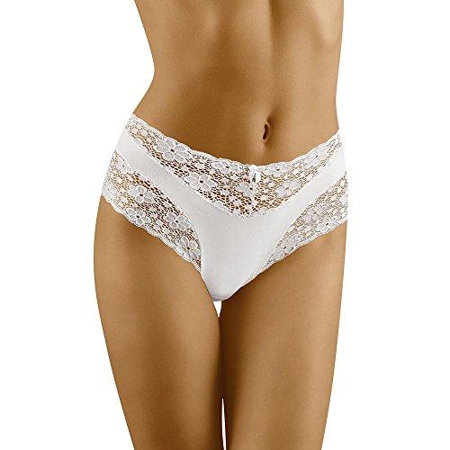 Wolbar Reizvoller Damen Maxi-Slip Mit Hoher Taille WB13, Weiß,Large