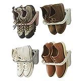 Zapatero Baffect plegable 4 piezas para montaje en pared,zapatero plegable estante colgante para el almacenamiento de zapatos estante para los zapatos estante de pared para los zapatos,4 piezas blanco