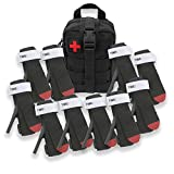 ASA TECHMED - 10 Pack EMT Medical Emergency Survival Tourniquet Quick or Slow Release Buckle One-Handed Strap Medical Military Tactical Emergency Tourniquet