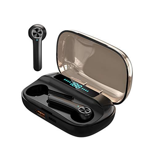 Auriculares inalámbricos, Auriculares estéreo TWS Bluetooth 5.0 con micrófono a Prueba de Agua IPX6, Caja de Carga portátil,Use un banco de energía, adecuados para Apple Airpods, iPhone Android/Xiaomi