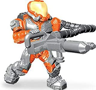 Halo Mega Bloks LOOSE Minifigure UNSC Orange Flame Marine [Series 9]