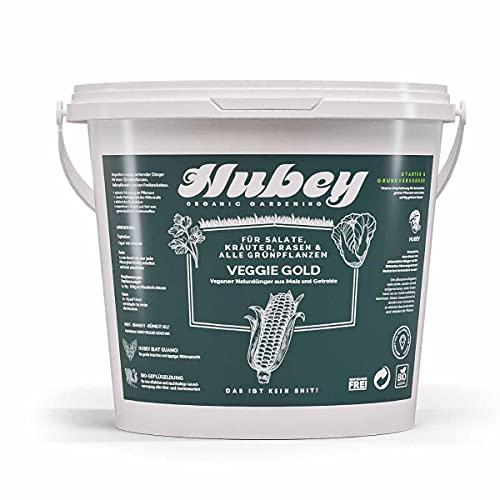 Hubey Abono orgánico altamente eficaz (2,5 kg) I Vegan I Veggie Gold Abono natural I Abono Bokashi I Abono orgánico universal para plantas sanas