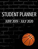 Student 2019-2020 Planner: Basketball Player Academic Agenda 8.5 x 11 in. June 2019 to July 2020  Daily Weekly Planner with Assignment and To-Do List