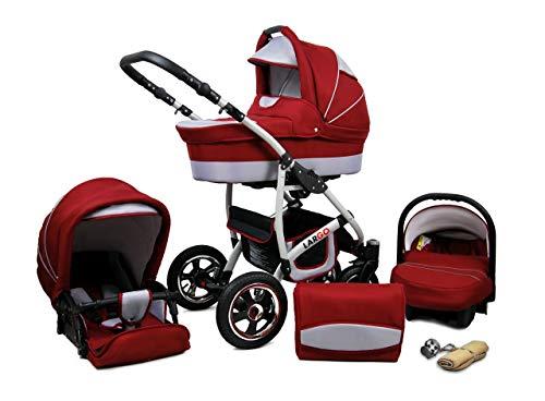 Cochecito de bebe 3 en 1 2 en 1 Trio Isofix silla de paseo New L-Go by SaintBaby Chilly Silver 2in1 sin Silla de coche