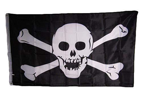 Jolly Roger Pirate Skull and Crossbones No Patch 3x5 Pieds Flag Banner Indoor/Outdoor Premium Fade Resistant