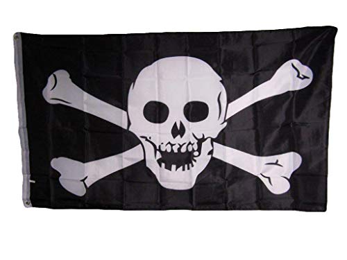 Jolly Roger Pirate Skull and Crossbones No Patch 3x5 Pieds Flag Banner Indoor/Outdoor Premium Fade Resistant