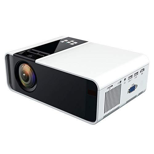 SALUTUYA W10 HD 1080P LED Tragbarer Projektor, Home Player Multimedia-Projektor (480P Standard Version) Rot & Blau 3D Weiß 110-240V(Europäischer Stecker)