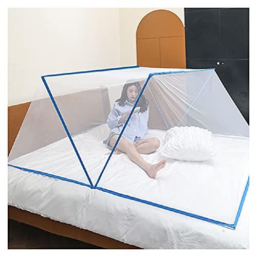 Pieghevole zanzariera senza fondo Copertura portatile della zanzara Facile campeggio & installazione libera della rete dell'insetto all'aperto per il letto dell'adulto/letto (160*190*80cm,1)