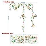 VIOYO Wandaufkleber Für Kinderzimmer Schmetterling zaun blume Messlatte 3d Kinderzimmer Dekor Poster