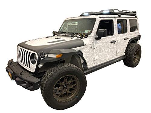 Vanguard Black Powdercoat Endurance Rack   Compatible with 18-22 Jeep Wrangler JL