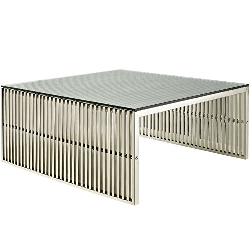 Stainless Steel Glass Topped Coffee Table