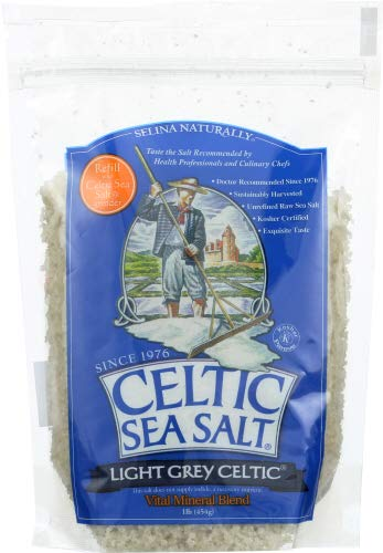 Celtic Sea Salt Fine Ground, 16 Ounce Resealable Bag, Great for Cooking & Baking, Pickling or Finishing, Gluten Free, Kosher, Paleo-Friendly (Pack Of 6)
