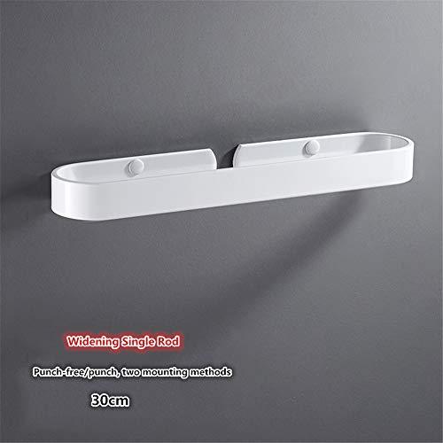 ZLDM Nórdico Blanco Toallero Espacio de Aluminio Vara Individual Barra de Toalla sin Taladro Montado en la Pared Prueba de Herrumbre toallero Barra para Cuarto de baño La Cocina Balcon