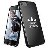 adidas Funda para teléfono móvil diseñada para iPhone 6/6S/7/8/iPhone SE2, Funda a Prueba de caídas, Bordes elevados, Color Negro