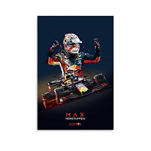 Max Verstappen Lage Poly Poster Decoratief Schilderij Canvas Muur Art Woonkamer Posters Slaapkamer Schilderen 20×30 inch…