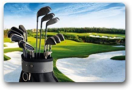 tyutrir Golfschläger Brassie Golfball Sport Fußmatten Eingangsmatte Bodenmatte Fußmatte Teppich Innen/Außen/Haustür/Badezimmermatten Gummi rutschfest 23,6 x 15,8 Zoll