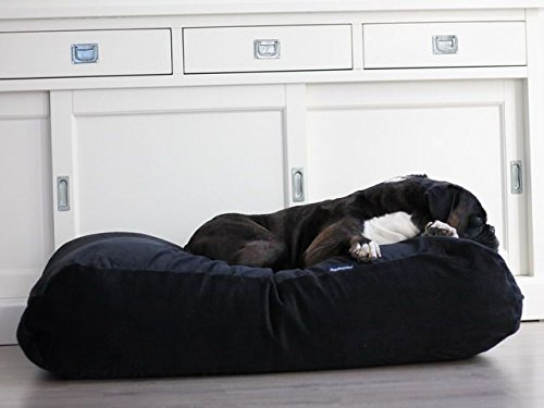 Dog's Companion® Hundebett Schwarz (Cord) Superlarge