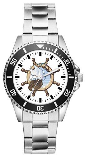 Geschenk für Seemann Fahrer Segler Uhr 2189