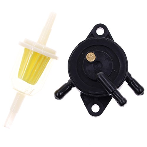 Fuel Pump for Kohler 17HP-25 HP Small Engine Lawn Mower Tractor, Gas Vacuum Fuel Pump with Fuel Filter for Honda for Yamaha for John Deere