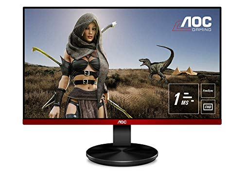 "AOC G2590VXQ Monitor da Gaming 24.5"", FHD 1920 x 1080 a 75 Hz, 1 ms, Speaker, D-SUB, 2 x HDMI, DP, Nero/Rosso"