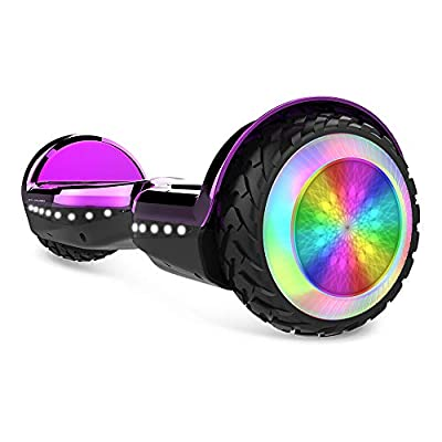 "City Cruiser, 6.5"" Scooter Hover Board with UL2272 Certified Wheels LED Lights,Purple"