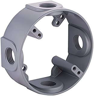Hubbell-Bell 5363-0 Round Weatherproof Extension Adapter, 18.3 Cu-in, 4 in Dia X 1-1/2 in D, Gray, 4-Inch
