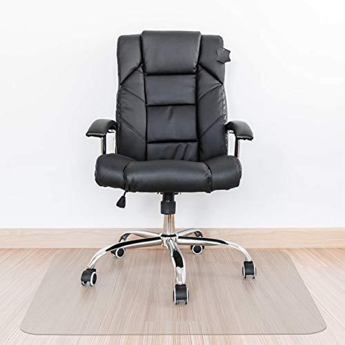 Kuyal Alfombrilla rígida de 2 mm de Grosor, Transparente para Oficina, hogar, Alfombrilla Protectora para el Suelo, sillones (rectángulo)