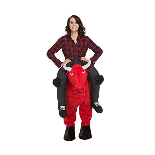 My Other Me Me-204318 Disfraz Ride-on toro, color rojo, M-L (Viving Costumes 204318)