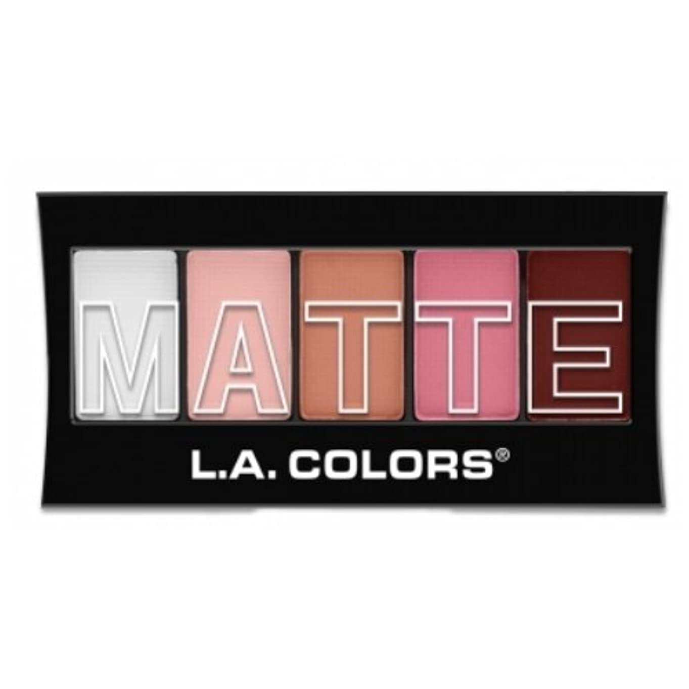 流出ウール独特の(6 Pack) L.A. Colors Matte Eyeshadow - Pink Chiffon (並行輸入品)