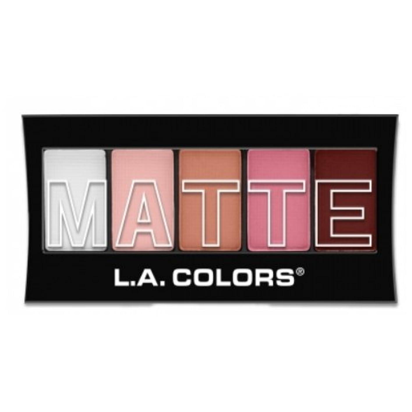 分解する消去潜む(3 Pack) L.A. Colors Matte Eyeshadow - Pink Chiffon (並行輸入品)