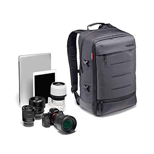 Manfrotto Manhattan Rucksack Mover-30, Mehrzweckrucksack, für den Transport von Kamera und Zubehör, aus wasserabweisendem Material, Fotorucksack mit PC- und Tablet-Fach, mit Stativ-Halterung