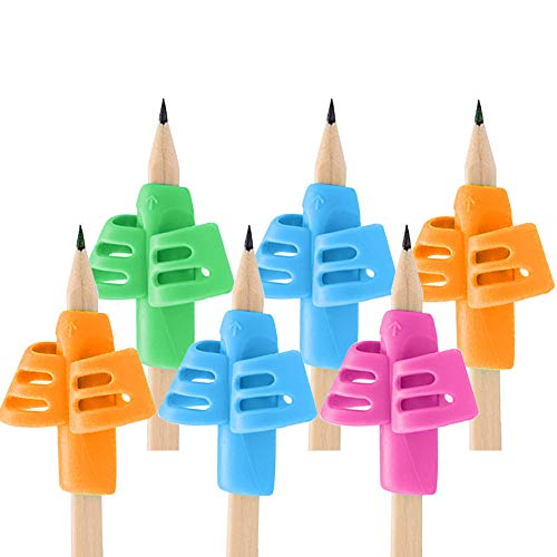 Pencil Grips - 6 Pack Pencil Grips for Kids Handwriting, Ergonomic Writing Training Aid Correction...