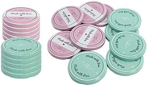 com-four® 20x Ersatzdeckel für Marmeladengläser