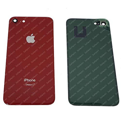Vetro SCOCCA Posteriore Copri Batteria Back Cover iPhone 8 Rosso con VETRINO