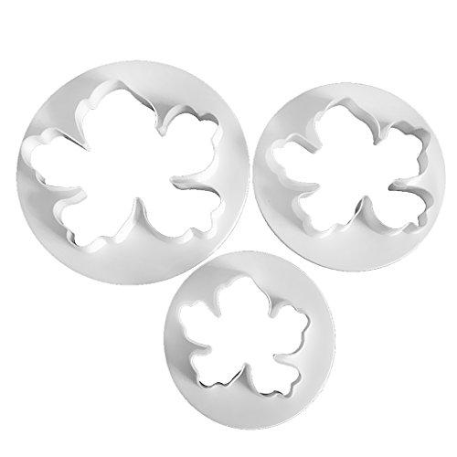 Magideal 3pcs Moldes forma flor bandera triángulo moldes para repostería decoración pasta Cookie galleta pastel DIY, flor